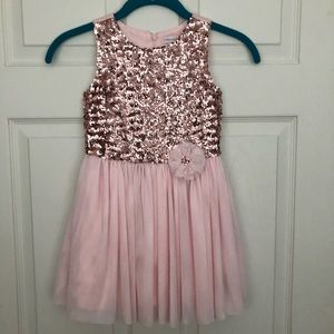 Pink sequins dress NWT size 5T